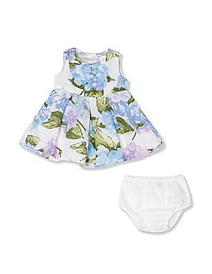 The Children's Place White Toddler Girl Dress With Bloomers Set