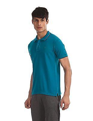 Ruggers Green Tipped Collar Pique Polo Shirt