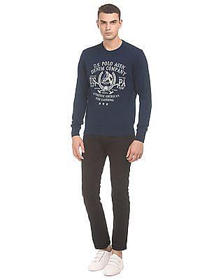 U.S. Polo Assn. Denim Co. Printed Crew Neck Sweater
