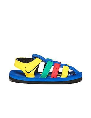 Unlimited Boys Strappy Colour Block Sandals