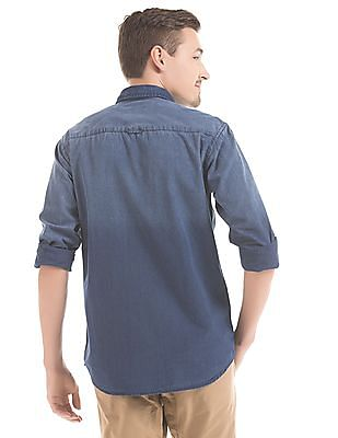 Izod Slim Fit Washed Denim Shirt
