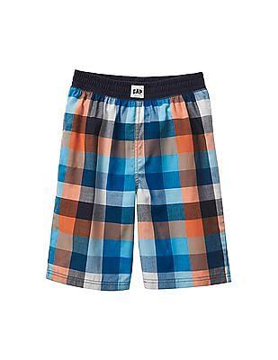 GAP Toddler Boy Blue Plaid PJ Shorts
