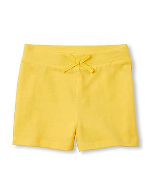 The Children's Place Girls Matchables Solid Knit Shorts