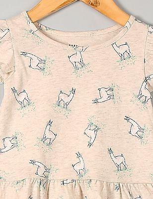 GAP Toddler Girl White Flutter Sleeve Peplum Top