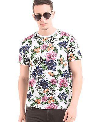 Gant Floral Print Crew Neck T-Shirt