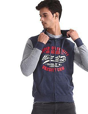 Colt Blue Zip Up Hooded Sweatshirt