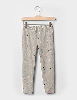 GAP Girls Grey Print Crop Leggings