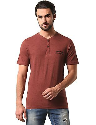 True Blue Slub Jersey Slim Henley T-Shirt