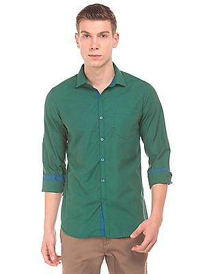Excalibur Solid Slim Fit Shirt
