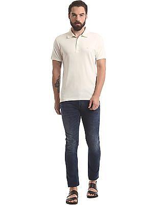 True Blue Slim Fit Supima Cotton Polo Shirt