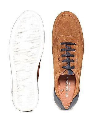 U.S. Polo Assn. Contrast Trim Low Top Sneakers