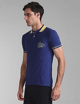 GAP Heathered Pique Polo Shirt