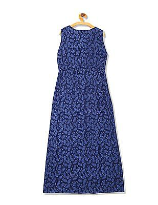 Bronz Paisley Print Maxi Dress