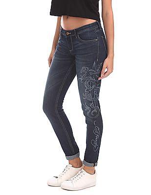 EdHardy Women Super Skinny Fit Stone Wash Jeans