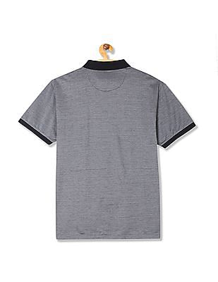U.S. Polo Assn. Regular Fit Patterned Knit Polo Shirt