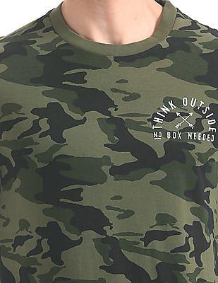 Aeropostale Regular Fit Camo Print T-Shirt