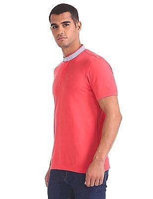 Arrow Sports Regular Fit Pique Henley T-Shirt