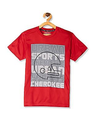 Cherokee Red Boys Front Print Active T-Shirt