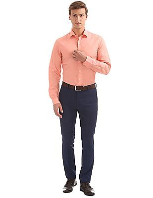 Arrow Slim Fit Patterned Weave Shirt