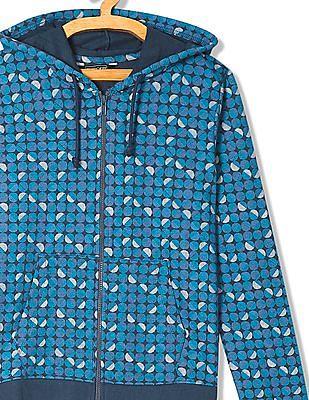 Cherokee Printed Zip Up Sweatshirt