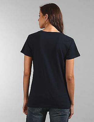 GAP Short Sleeve Glitter Print T-Shirt