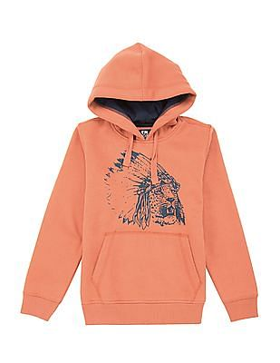 FM Boys Graphic Print Hooded Sweatshirt