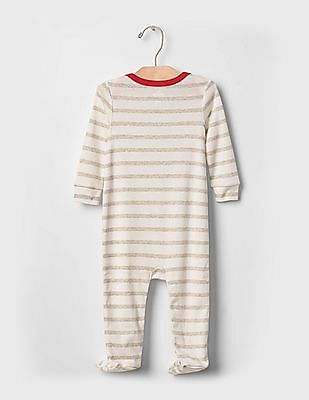 GAP Baby White Little star footed one-piece