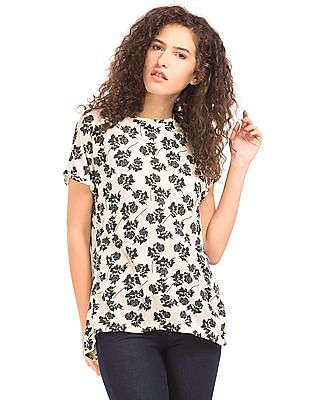 Cherokee Floral Print Boxy Top