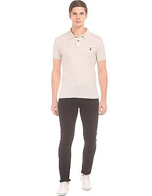 U.S. Polo Assn. Denim Co. Horseshoe Print Muscle Fit Polo Shirt
