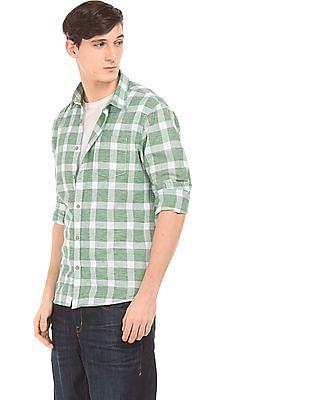 Cherokee Textured Regular Fit Check Shirt