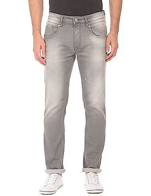 Ed Hardy Slim Fit Lightly Distressed Jeans