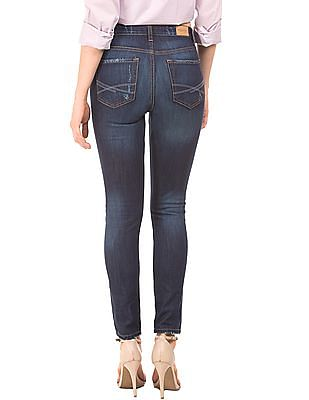 Aeropostale High Rise Distressed Jeans