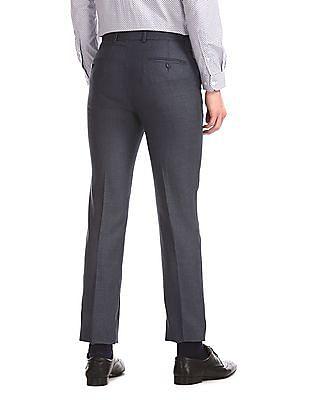 Excalibur Grey Slim Fit Check Trousers