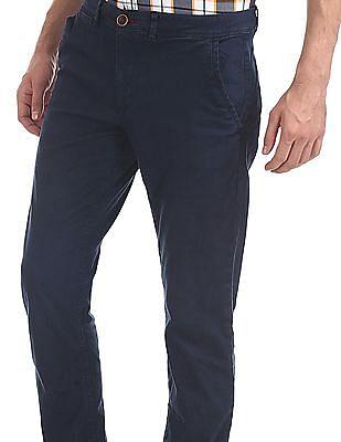 Cherokee Blue Slim Fit Solid Trousers