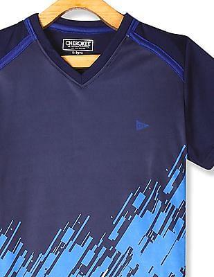 Cherokee Blue Boys V-Neck Active T-Shirt