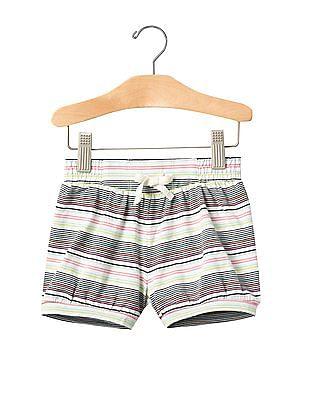 GAP Toddler Girl White Jersey Bubble Shorts