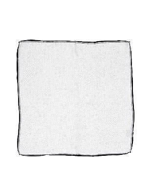 Arrow White Contrast Hem Printed Pocket Square