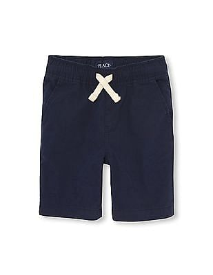 The Children's Place Boys Solid Pull-On Woven Jogger Shorts