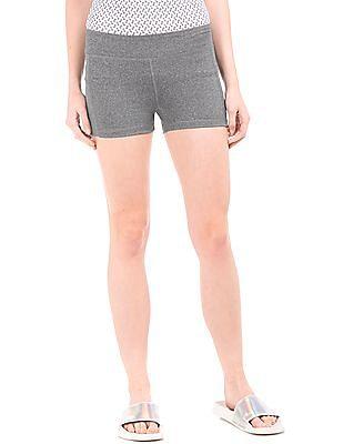 Aeropostale Heathered Snug Fit Shorts