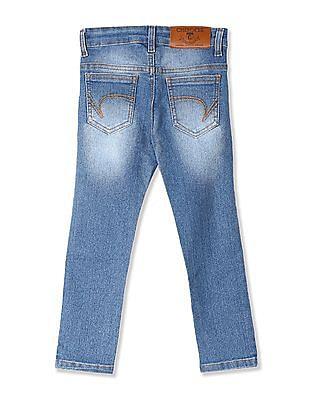 Cherokee Blue Boys Regular Fit Stretch Jeans