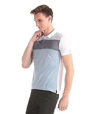 Arrow Newyork Regular Fit Colour Blocked Polo Shirt