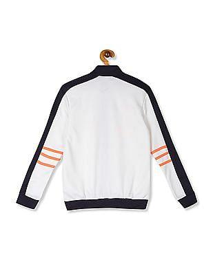 Cherokee White Boys Printed Active Jacket