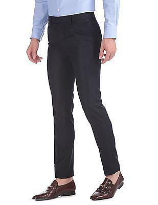 Arrow Slim Fit Flat Front Trousers