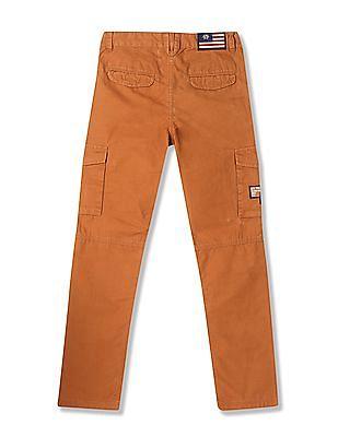 U.S. Polo Assn. Kids Boys Solid Cargo Pants