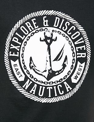 Nautica Printed Front Slim Fit T-Shirt
