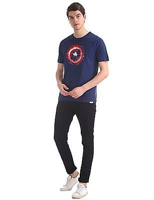 Colt Blue Shield Graphic Crew Neck T-Shirt