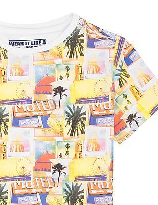 FM Boys Boys Printed Slim Fit T-Shirt