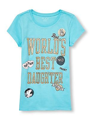 The Children's Place Girls Short Sleeve Graphic T-Shirt