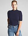 GAP Short Sleeve Mockneck Sweater