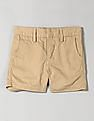 GAP Boys Brown Solid Flat Front Shorts